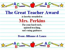 The Great Teacher Award