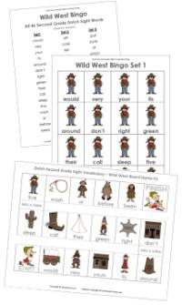 Second Grade Wild West Bingo