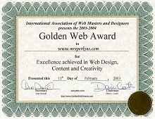 Golden Web Award